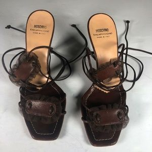 Moschino Cheap Chic Heels Lace up Sandals Size 37